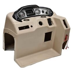Sun Tracker Boat Steering Console F144305976   W/ Gauges Scratches