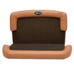 Scout 320 Lxf Caramel / Coffee Vinyl 2pc Boat Console Seat Cushions Set Of 2