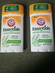 Arm And Hammer New Essentials Fresh Rosemary Lavender Deodorant 2.5oz. 2 Pack S