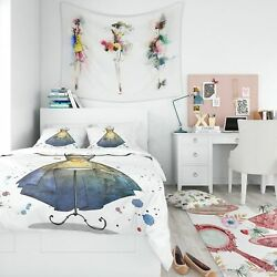 Designart And039mannequin With Long Dressand039 Abstract Bedding Set -