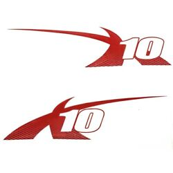Mastercraft Boat Graphic Decals 7501662   X10 Viper Red Set Of 2