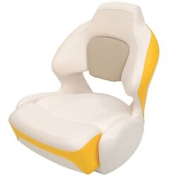 Chaparral Boat Helm Bolster Seat 31.00164   186 Ssi White Yellow Rip