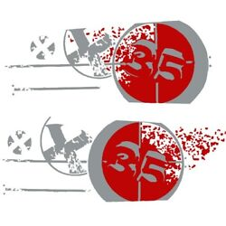 Mastercraft Boat Graphic Decal 758064 | X35 Red Silver 2008 Kit