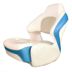 Chaparral Boat Captains Helm Seat 31.00167   Bolster Off White Blue
