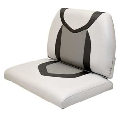 Lund Boat Seat Cushions 2117136   White Gray Set Of 2