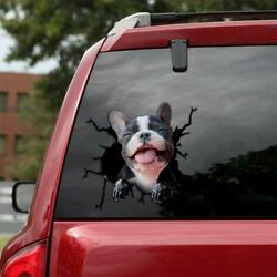 FRENCH BULLDOG For Car Decal Dogs funny Baby Dog Sticker Vinyl 3D Decal 12X12quot;