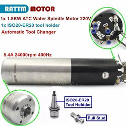 1.8kw Automatic Tool Change Atc Water Cooled Spindle Motor Iso20 220v 400hz 5.4a
