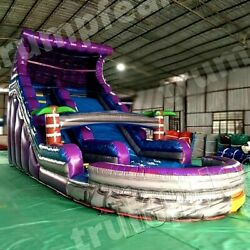 23x10x16 Ft Pvc Vinyl Commercial Inflatable Water Slide Pool With Air Blower