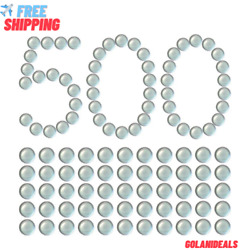 3/8 Inch Clear Glass Marbles Slingshot Ammo Balls 500 Qty High Quality New