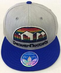 Nba Denver Nuggets Adidas Fitted Cap Hat Beanie Style Tzx64 New