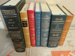 Lot 7 Volumes From Firearms Classics Library Free Shipping Franklin / Easton