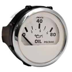 Faria Boat Oil Pressure Gauge Gp2471a | Euro Stainless White 2 Inch