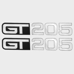 Larson / Glastron 0572926 Gt 205 Black/reflective Silver Boat Decals Pair