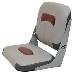 Wise Seating Boat Folding Seat   Tracker Marine 174727 Gray Red