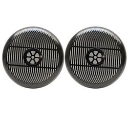 Sea Ray Acom Be-a1602b 7 1/2 In Black Plastic Boat Speaker Grills/covers Pair