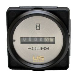 Faria Boat Hour Meter Gauge Mh0088a   Us Marine 2 Inch Black Silver
