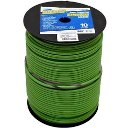 Smart Boat Wire 201782   500 Foot 10 Awg Green Tinned Copper Single