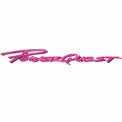 Powerquest Boat Logo Decal   32 1/4 X 5 1/8 Inch Hot Pink / Charcoal