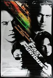 Original 1st Of Series 2001 Fast And The Furious 5' X 8' 2 Sided Theatre Banner