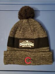 Chicago Cubs 2016 World Series Champions Nike Winter Pom Hat Cap