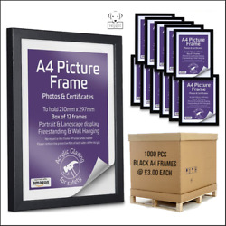 A4 Black Picture / Certificate Frames 1000 Per Pallet Andpound2.50 Each Delivered