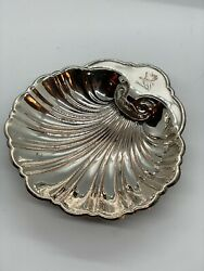 Antique Eg Webster And Son Of Brooklyn, New York Silver Plated Footed Shell Dish
