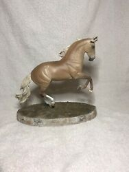 Tenorio By K. Lucas-francis Artist Resin Horse To A Sooty Palomino With Chrome