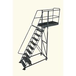 Ballymore Rolling Ladder Capacity 300 Lb Height 140 In., Steel