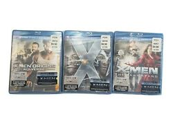 Lot Of 3 X-men Blu-ray Movies, Origins Wolverine, First Class And The Last Stand