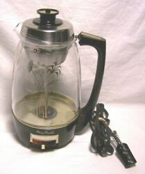 Mary Proctor-silex Light Up 10 Cup Glass Electric Coffee Percolator 01932 Exuc