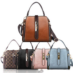 Women PU Shoulder Bag Satchel Small Handbag Bucket Messenger Crossbody Purse $13.99