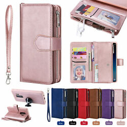 Removable Zipper Leather Wallet Case For Samsung S20 S10 S8 S9 Plus Note 10 9 8