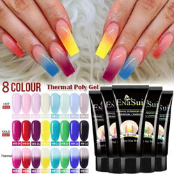 8Colors Chameleon Poly UV Gel Temperature Color Changing UV Gel Nail Extension