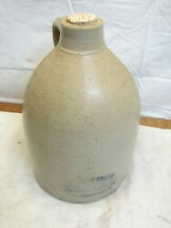 Hungerford Smith Rochester Ny Advertising Stoneware Jug Crock True-fruit Syrup