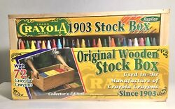 Vintage Crayola - 72 Crayon Set - 1903 Original Wooden Stock Box Brand New