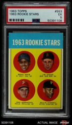 1963 Topps 553 Willie Starge Colt 45s / Red Sox / Phillies / Pirates Psa 5 - Ex