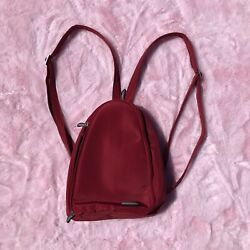 travelon red backpack womens small $19.80