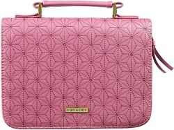 Bible Cover New Grace Dusty Rose Large Fits 10 1/8 X 7 1/8 X 1 7/8