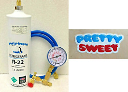 Refrigerant 22, R22, Air Conditioner, 28 Oz Pro Recharge Kit, Pretty Sweet