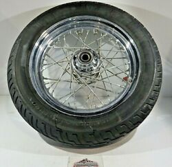 2007 Harley Davidson Softail Flstc Front Laced Wheel And Dunlop Tire Ops7024