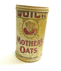 Vintage 1930's Mother's Oats Quaker Oats Company Cardboard Canister 3 Pound