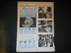 Revere35mmslide Projectorself Operating1950and039s Vintage Print Ad A2