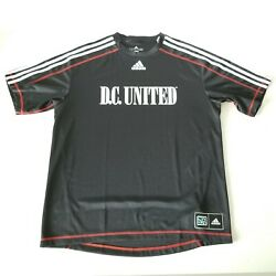 Adidas Dc United Mls Black Red Stitching Soccer Jersey Mens Size Xl
