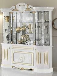 Console Luxe Vitrine Verre Armoire Moderne Style Italienne Meuble