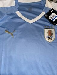 Uruguay Soccer Home Replica Jersey Model 755076-01 Menandrsquos Size Large Xl Nwt