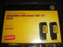Compatible Staples Brand For Inkjet Cartridges Canon Bci-21