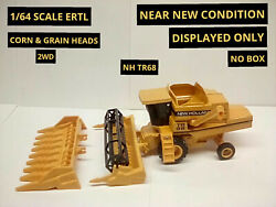1/64 Scale Lot Of Two Combines Including A Case Ih And New Holland