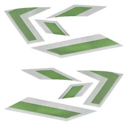 Mastercraft Boat Raised Decals 7501548   X-star Lime Green 2013 8 Pc