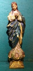 Immaculate Heart Of Mary Vtg 270mm Chalkware Figure Statue