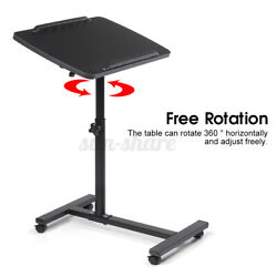 Adjustable Rolling Height Angle Laptop Sofa Desk Overbed Notebook Table Stan